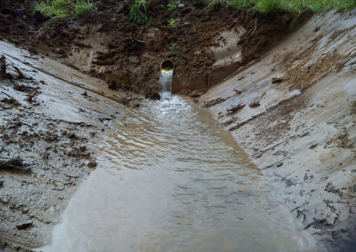 Chantier réseau de drainage